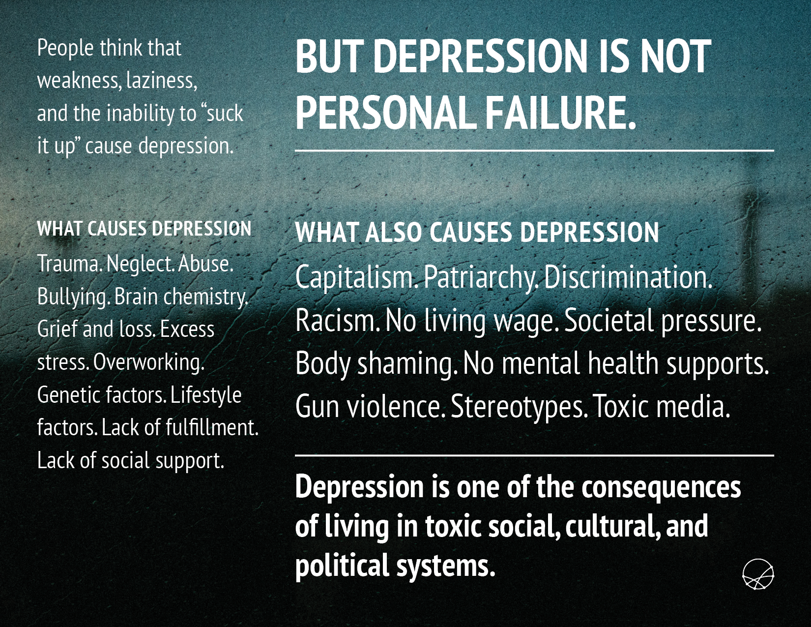 Depression is Not a Personal Failure Mini-Project