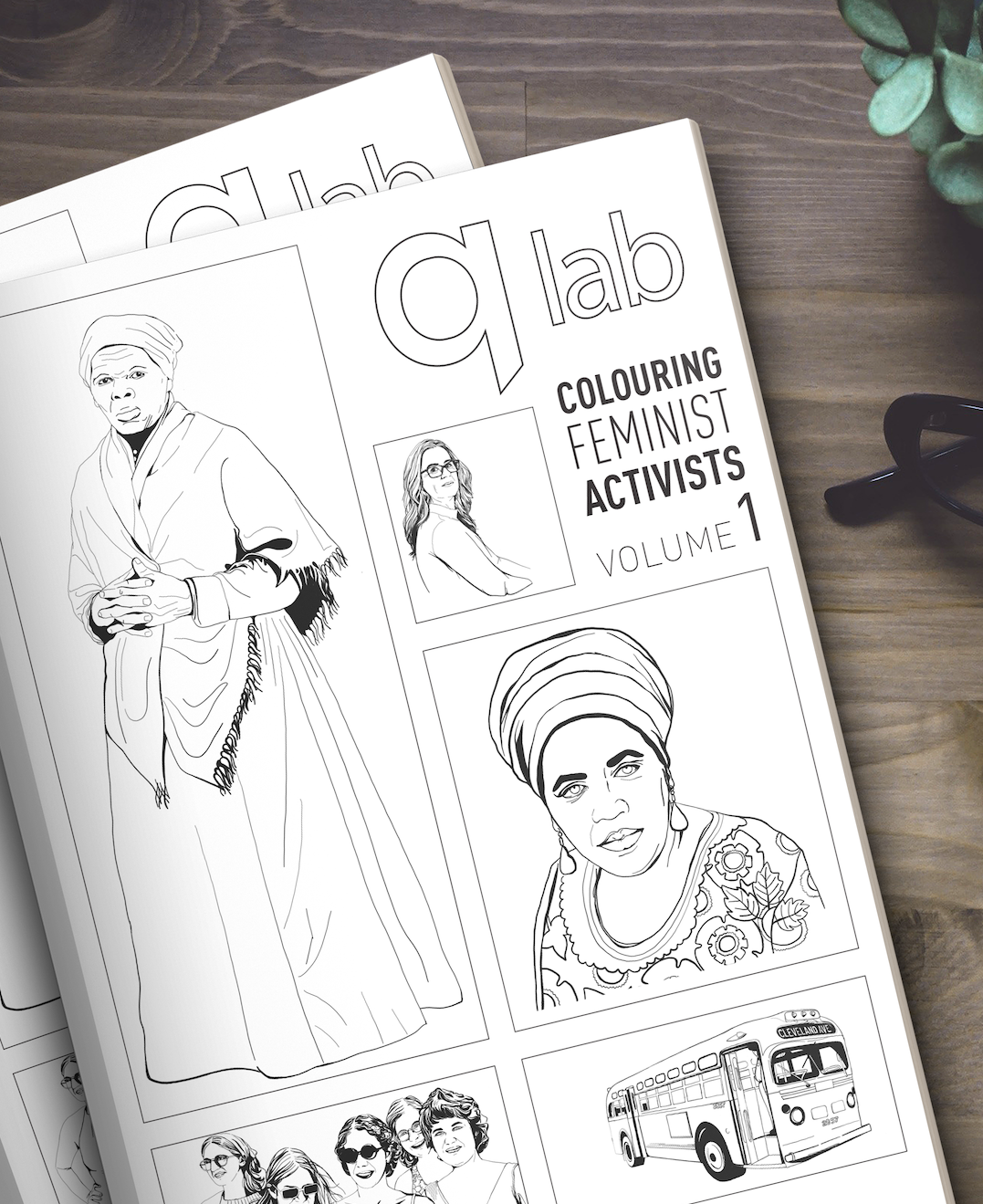 qLab Colouring Feminist Activists Mini-Project